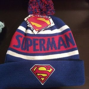 *NWT* Superman Beanie with Embroidered logo